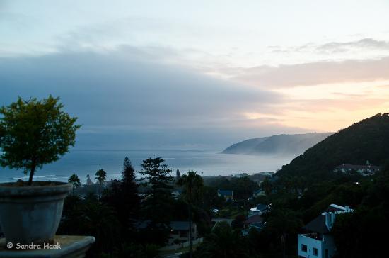 Wilderness, Sudáfrica: Sonnenuntergang von der Terrasse aus gesehen