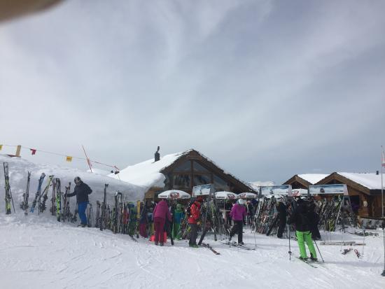 Veysonnaz, Suiza: Devant du resto