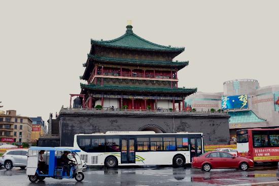 Hu County, China: Bell Tower (Zhonglou)