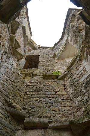 Chateauneuf, Francia: Vestiges des escaliers de pierre d'une des tours du Château