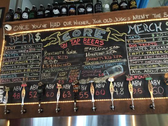 Core Brewing Co.: Menu