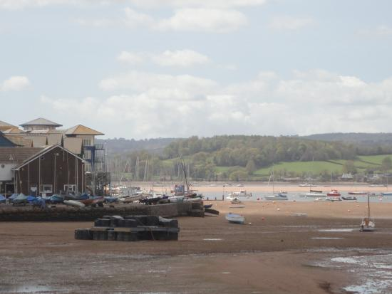 Exe Trail: Looking back to the River Exe Near Sea.