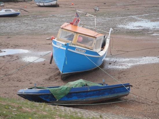 Exe Trail: Boats with the Tide out.