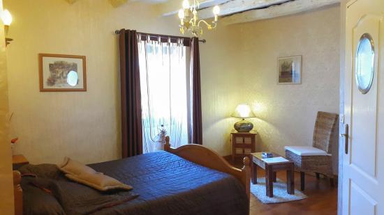 Siorac-en-Périgord, ฝรั่งเศส: Chambre Paradis d'Azur