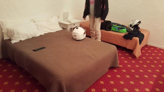 La Peiriero : lits dépareillés et qualité des couvres lits a revoir