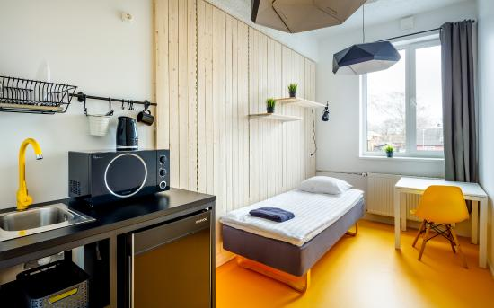 Single Private Room With A Kitchenette Picture Of Hektor