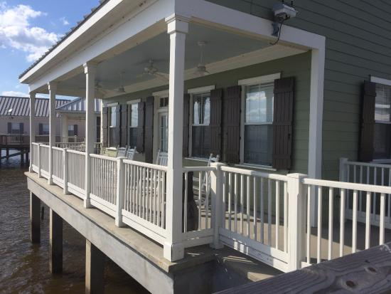 Fontainebleau State Park: There are three cabin designs: fully screened front porch, open front w/ screened side or back p