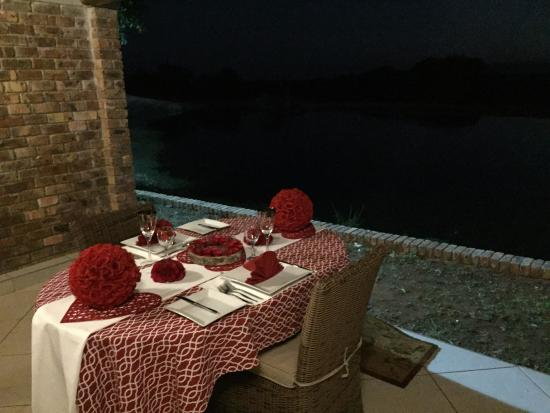 Elandela Private Game Reserve: Our Private table on our veranda