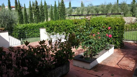Rignano sull'Arno, Italien: il patio