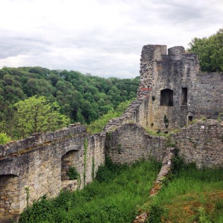 Logne Castle: burcht van logne vanaf de bovenzijde.