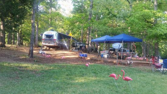 Townville, Güney Carolina: Our camping setup!
