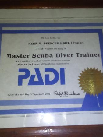 Speyside, Tobago: THE MASTER SCUBA DIVER TRAINER COURSE IS ALSO AVAILABLE ONLY 5 SPECIALTIES YOU CAN CHOOSE
