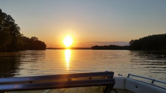 Anderson, SC: Always enjoy the sunset on the lake near Townville, SC