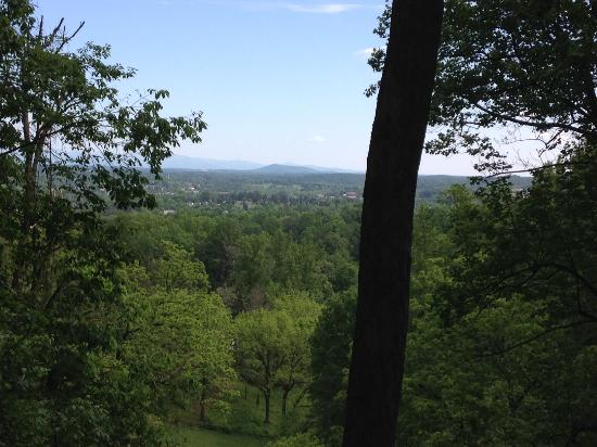 Saunders-Monticello Trail: top of the mountain view