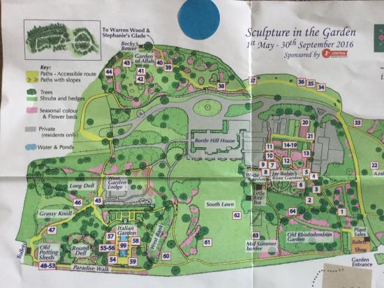 Haywards Heath Map Map of garden   Picture of Borde Hill Garden, Haywards Heath  Haywards Heath Map