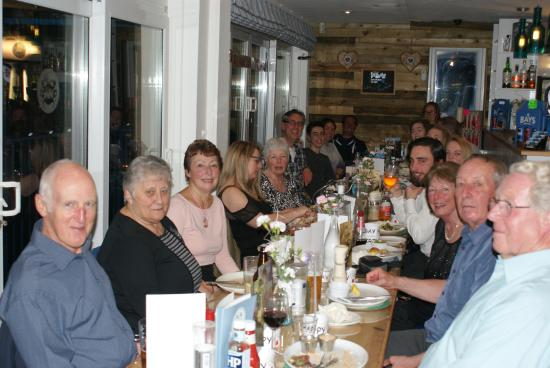 The Breakwater Bistro: Wonderful catering for a big group on a Friday Evening visit celebrating a family birthday.