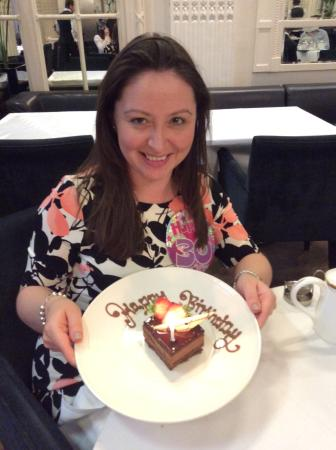 Afternoon Tea At The Waldorf Hilton Lovely Surprise Birthday Cake