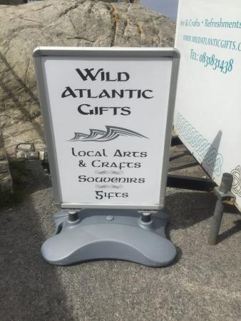 Malin Head, ไอร์แลนด์: Sign outside the shop