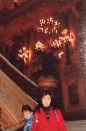 Paris, Frankrig: Interior(escadaria) da Ópera.