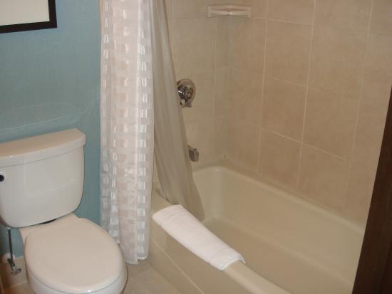 Hyatt Place Milwaukee Airport: Toilet and tub/shower