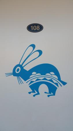 Art on Inca Inn door