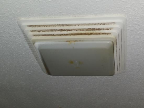 Peoria, IL: Vent fan stained by nicotine and gunk! How nice is that.