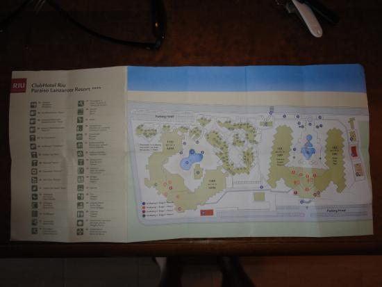 Hotel Map Picture Of Clubhotel Riu Paraiso Lanzarote