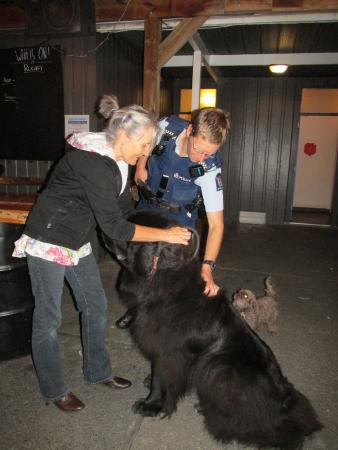 Waihi Beach, New Zealand: Meeting the local cops