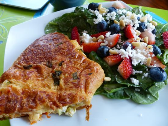 The Beandock: Lobster Croissant Roll & Spinach Salad