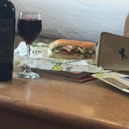 MacArthur Place - Sonoma's Historic Inn & Spa: Dinner after day of wine tasting