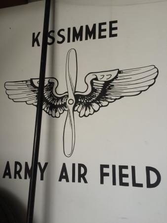 Kissimmee, FL: Sign in the hangar