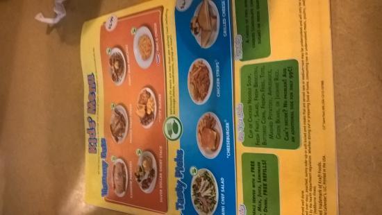 Perkins Restaurant & Bakery: Kids Menu