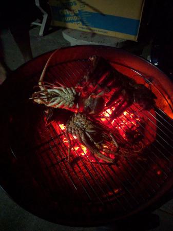 Vaea Hotel Samoa: $7 AU lobster on the Webber