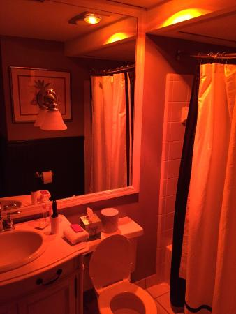 Gratz Park Inn: Heat Lamp In Bathroom