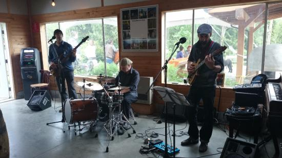 Gibsons, Канада: Sunday afternoon music by the Conventionals - a jazz/blues trio.
