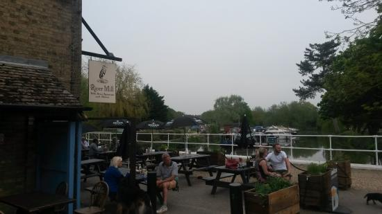 Eaton Socon, UK: The tavern and the marina