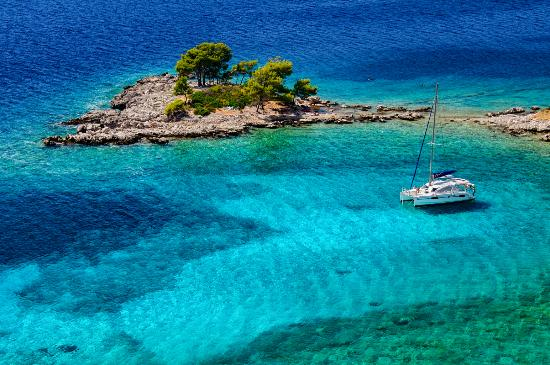 Croatie : The island (or peninsula) of Sikirica, Dubrovnik