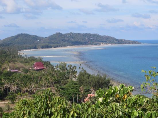 Laem Set, Thailand: View across bay towards Kamalaya from Rattanakosin Chedi (Baby Buddha Jaidee)