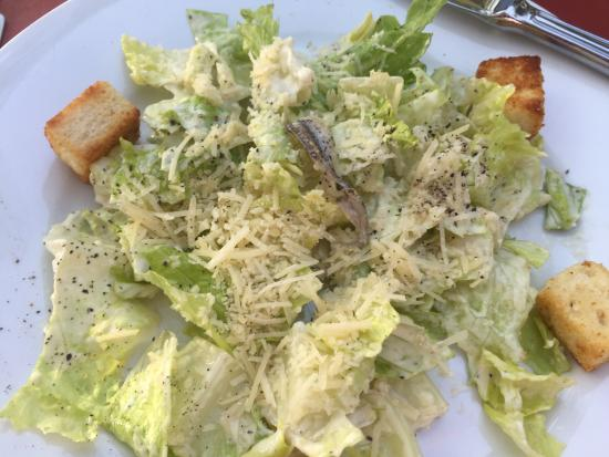 Old Fort Pub Restaurant: Forgot to include in my review. Caesar salad, flounder w/ crab meat, swordfish.