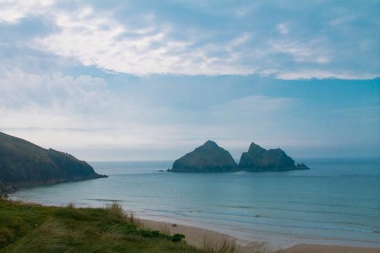 Parkdean - Holywell Bay Holiday Park: View from beach on an evening walk