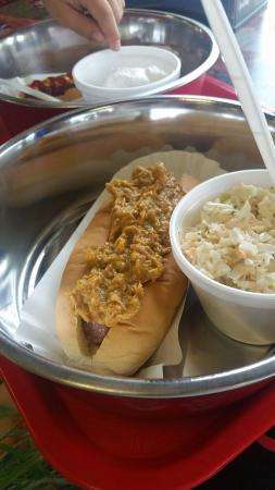 Lexington, SC: Carolina Dog with some yumm-o slaw.