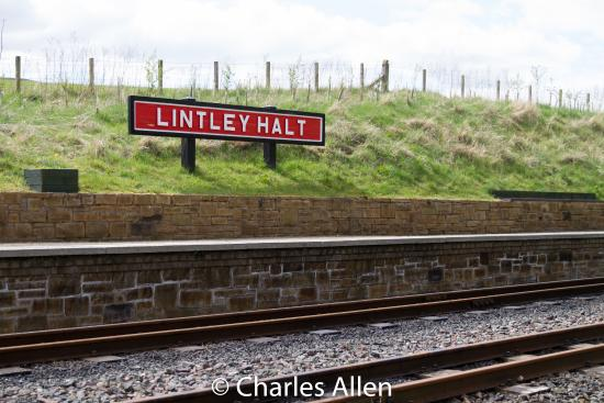 South Tynedale Railway: Linley Halt after a good walk the length of the line.