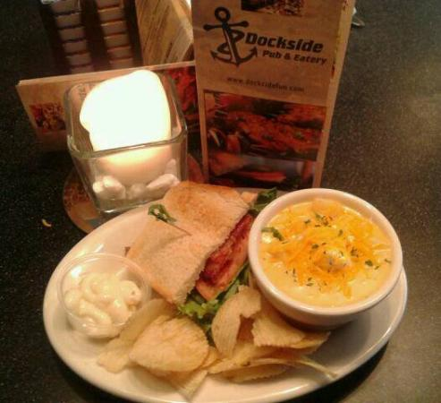 Pelican Lake, WI: Loaded baked potato soup and half blt sandwich..