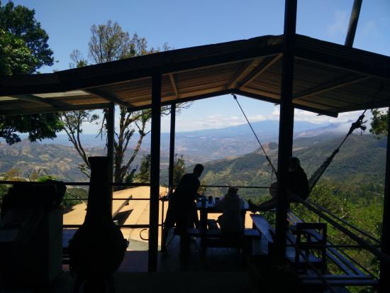 Chiriqui Province, Panama: View from the coffee/dining table
