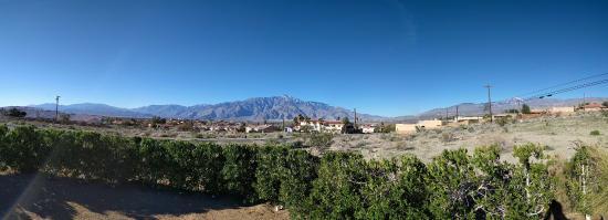 Desert Hot Springs Inn : Amazing view from the dog run