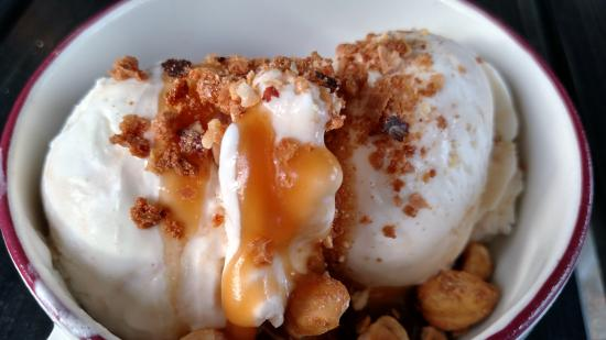 Watertown, MA: Sweet Cream Ice Cream w Salted Caramel and Candied Hazelnuts