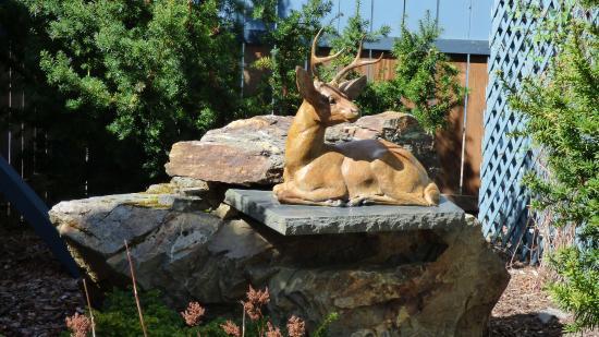Skagway Sculpture & Flower Garden: Deer Sculpture