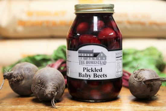 Remington, IN: PICKLED BABY BEETS