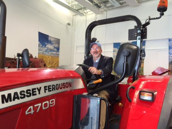 Driving that tractor at Coventry Transport Museum