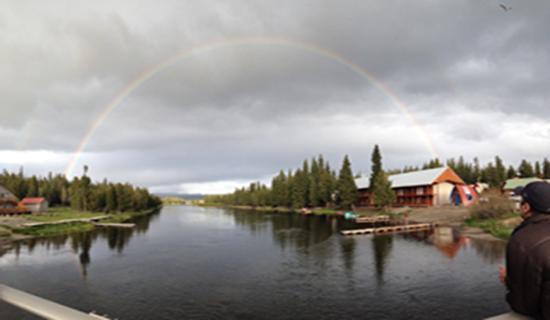 Macks Inn, ID: Mack's Inn Resort - Rainbow over Snake River